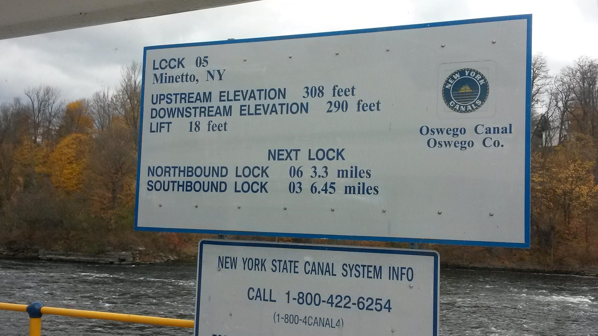 Lock sign as Hatteras yacht donation prepares to enter locks.